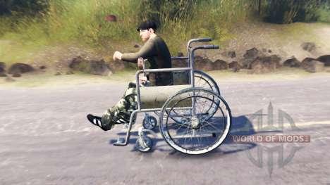 Rollstuhlzugang für Spin Tires