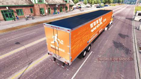 La peau Wok De Marcher sur un tracteur Kenworth pour American Truck Simulator