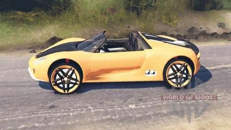 Porsche Carrera für Spin Tires