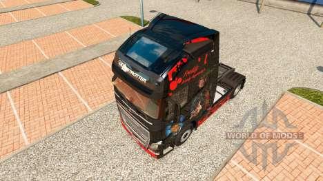 Freddy Krueger de la peau pour Volvo camion pour Euro Truck Simulator 2