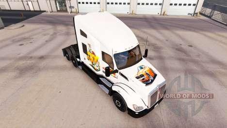Haut-Auto-Kunst auf einem Kenworth-Zugmaschine für American Truck Simulator
