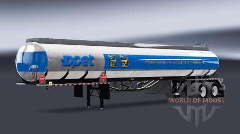 Skins Unternehmen Brennstoff für Auflieger tanks für American Truck Simulator