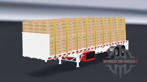 Une collection de semi-plates-formes pour American Truck Simulator