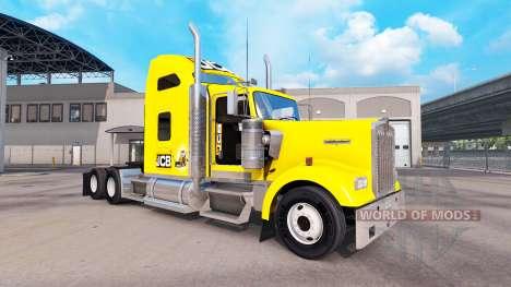 La peau JCB tracteur Kenworth W900 pour American Truck Simulator