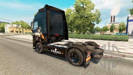 La peau CS:GO pour Volvo camion pour Euro Truck Simulator 2