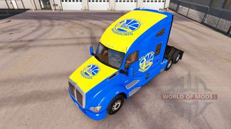 Haut Golden State Warriors auf Traktor Kenworth für American Truck Simulator
