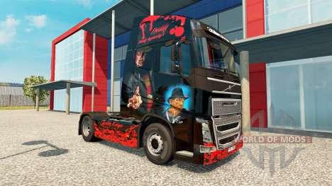 Freddy Krueger skin für Volvo-LKW für Euro Truck Simulator 2