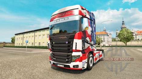 La peau etats-unis sur tracteur Scania R700 pour Euro Truck Simulator 2