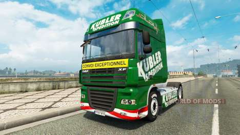 Kubler Spedition de la peau pour DAF camion pour Euro Truck Simulator 2