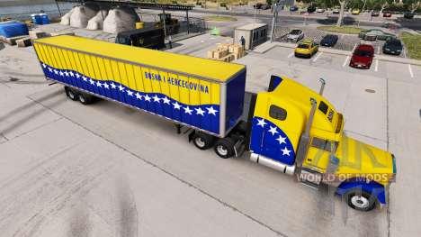Haut Bosnien auf dem LKW Freightliner Classic XL für American Truck Simulator