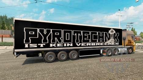 Haut Pyrotechnik auf den trailer für Euro Truck Simulator 2