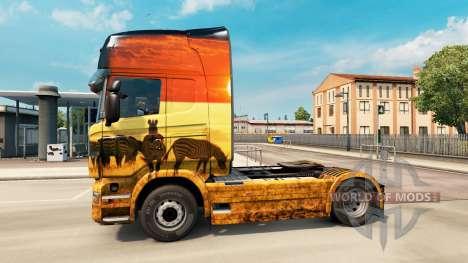 La peau Safari pour Scania camion pour Euro Truck Simulator 2