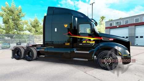Jim Palmer de la peau pour le camion Peterbilt pour American Truck Simulator