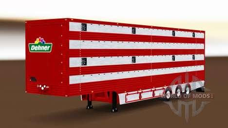 Semi-remorque camion à bétail pour Euro Truck Simulator 2