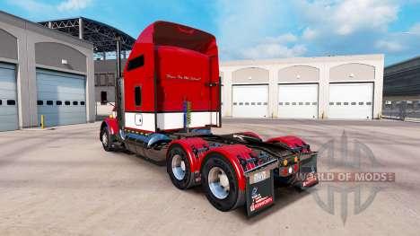 Haut Streifen v4.0 Traktor Kenworth T800 für American Truck Simulator