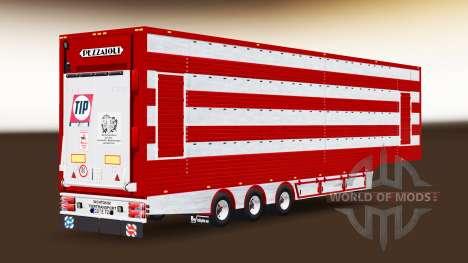 Sattelauflieger VIEHTRANSPORTER für Euro Truck Simulator 2