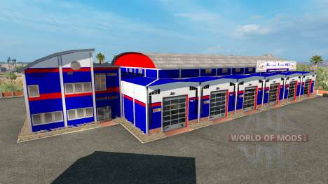 Гаражи de la Centrale de Transport des états-uni pour American Truck Simulator