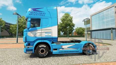 Aerolineas Argentinas peau pour Scania camion pour Euro Truck Simulator 2