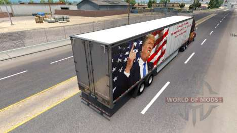 La peau Trump sur la remorque pour American Truck Simulator