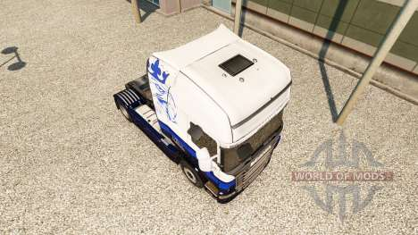 Haut Blue-V8, Scania truck für Euro Truck Simulator 2