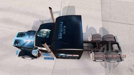 Black-Panther-skin für den truck-Peterbilt 389 für American Truck Simulator