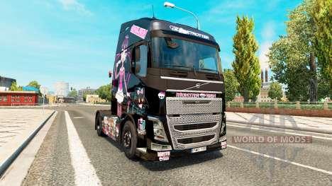 Monster High peau pour Volvo camion pour Euro Truck Simulator 2