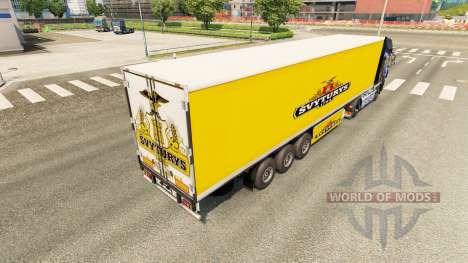 La peau Svyturys sur la remorque pour Euro Truck Simulator 2