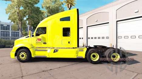 Haut Liebt Peterbilt und Kenworth-Zugmaschinen für American Truck Simulator