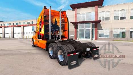 Cow-boy de la peau pour le camion Peterbilt pour American Truck Simulator