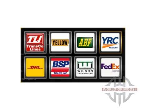 Les logos des compagnies de fret états-unis pour American Truck Simulator