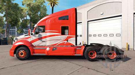 La peau de la Bande Rouge sur le camion Kenworth pour American Truck Simulator