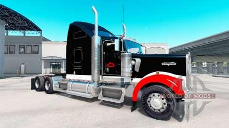 La peau Netstoc Logistica sur le camion Kenworth pour American Truck Simulator