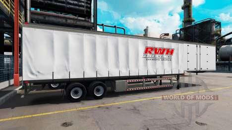Une collection de peaux pour les remorques v3.0 pour American Truck Simulator