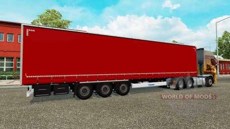 Remorque à rideaux Krone pour Euro Truck Simulator 2