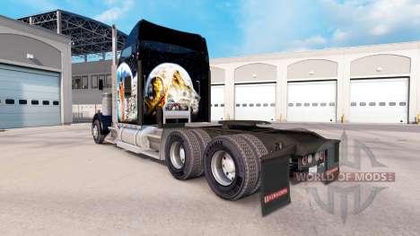 La peau des Indiens sur le camion Kenworth W900 pour American Truck Simulator