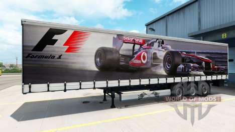 La peau de Formule 1 sur la semi-remorque pour American Truck Simulator