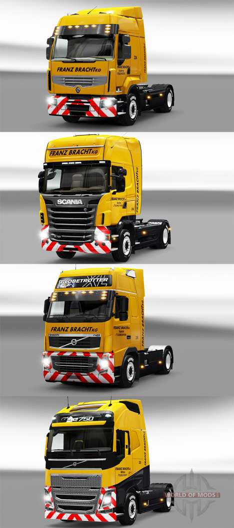 Franz Bracht skin on tractors pour Euro Truck Simulator 2