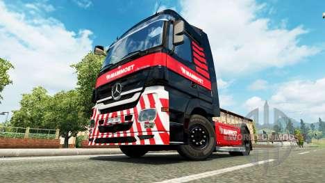 Mammoet skin für den truck, Mercedes-Benz für Euro Truck Simulator 2