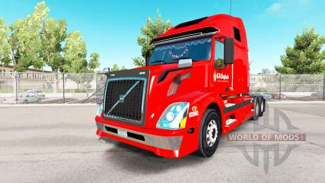 La peau C R Angleterre en tracteur Volvo VNL 670 pour American Truck Simulator