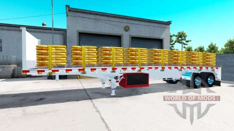 Eine Sammlung von semi-Plattformen für American Truck Simulator