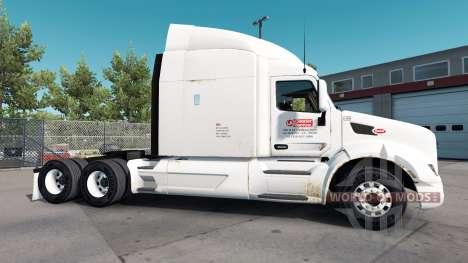 Rusty de la peau pour le camion Peterbilt pour American Truck Simulator