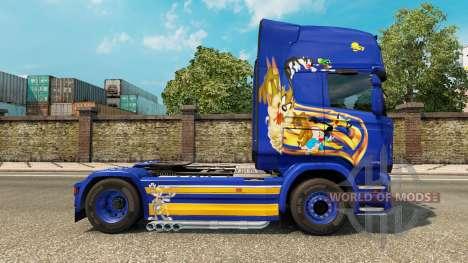 Looney Tunes de la peau pour Scania camion pour Euro Truck Simulator 2