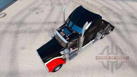 Haut Netstoc Logistica auf der LKW-Kenworth W900 für American Truck Simulator