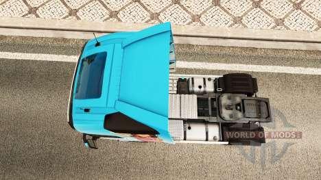 Miranda Kerr skin für Volvo-LKW für Euro Truck Simulator 2