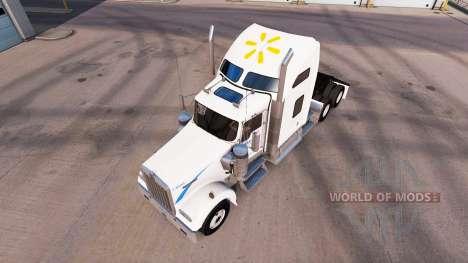 La peau Walmart sur le camion Kenworth W900 pour American Truck Simulator