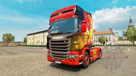 Haut Manchester United für Zugmaschine Scania für Euro Truck Simulator 2