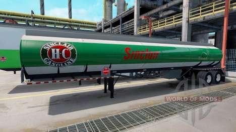 Les Logos sont des entreprises de combustibles s pour American Truck Simulator