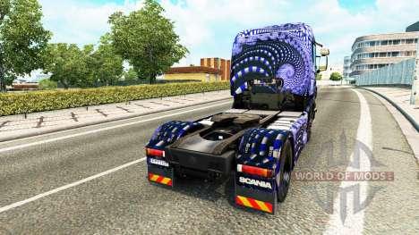 Blaue Leiter skin für Scania-LKW für Euro Truck Simulator 2