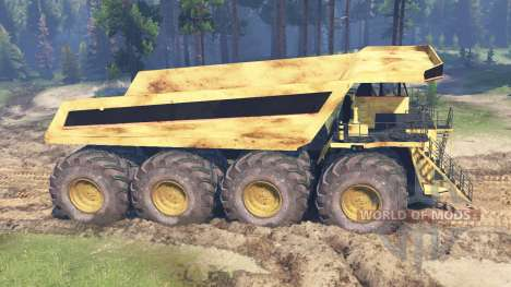 Camion minier pour Spin Tires