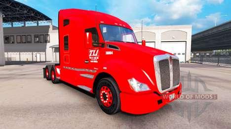 Haut Transco Linien auf LKW-und Peterbilt-Kenwor für American Truck Simulator